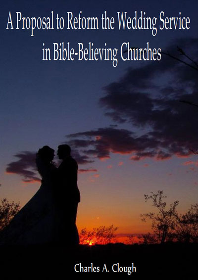 book cover proposal reform wedding service bible believing churches